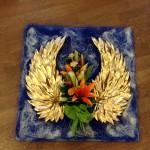Angel Golden Wings Bespoke Funeral Tribute