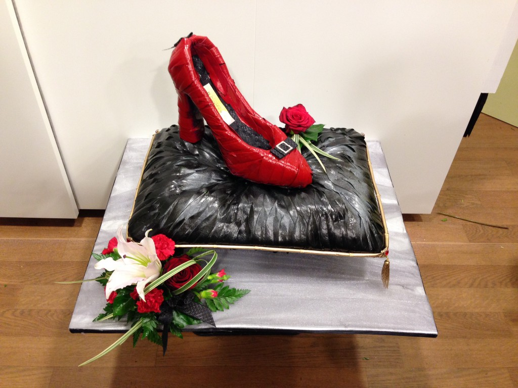 Bespoke funeral tributes shoe on cushion bespoke shooters target bespoke funeral tribute izmirmasajfo Image collections