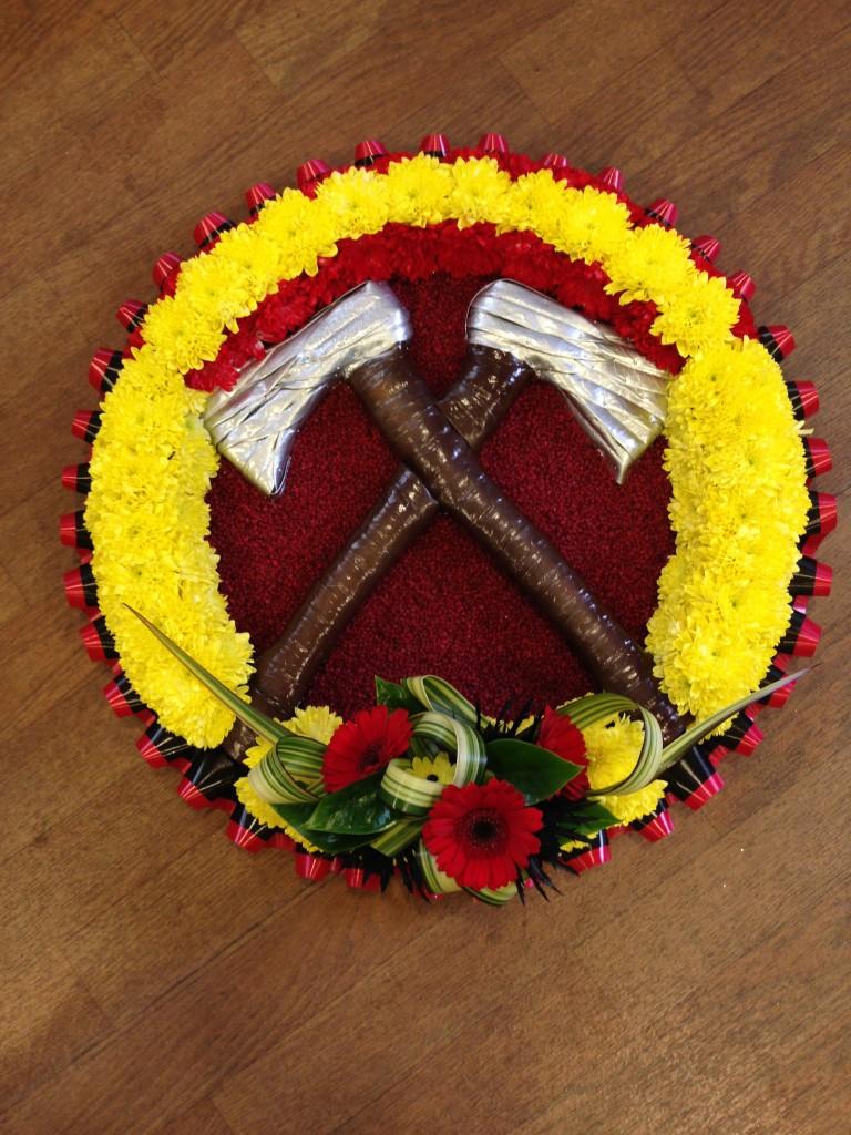 Bespoke funeral tributes wreath fire service bespoke funeral tribute izmirmasajfo Image collections