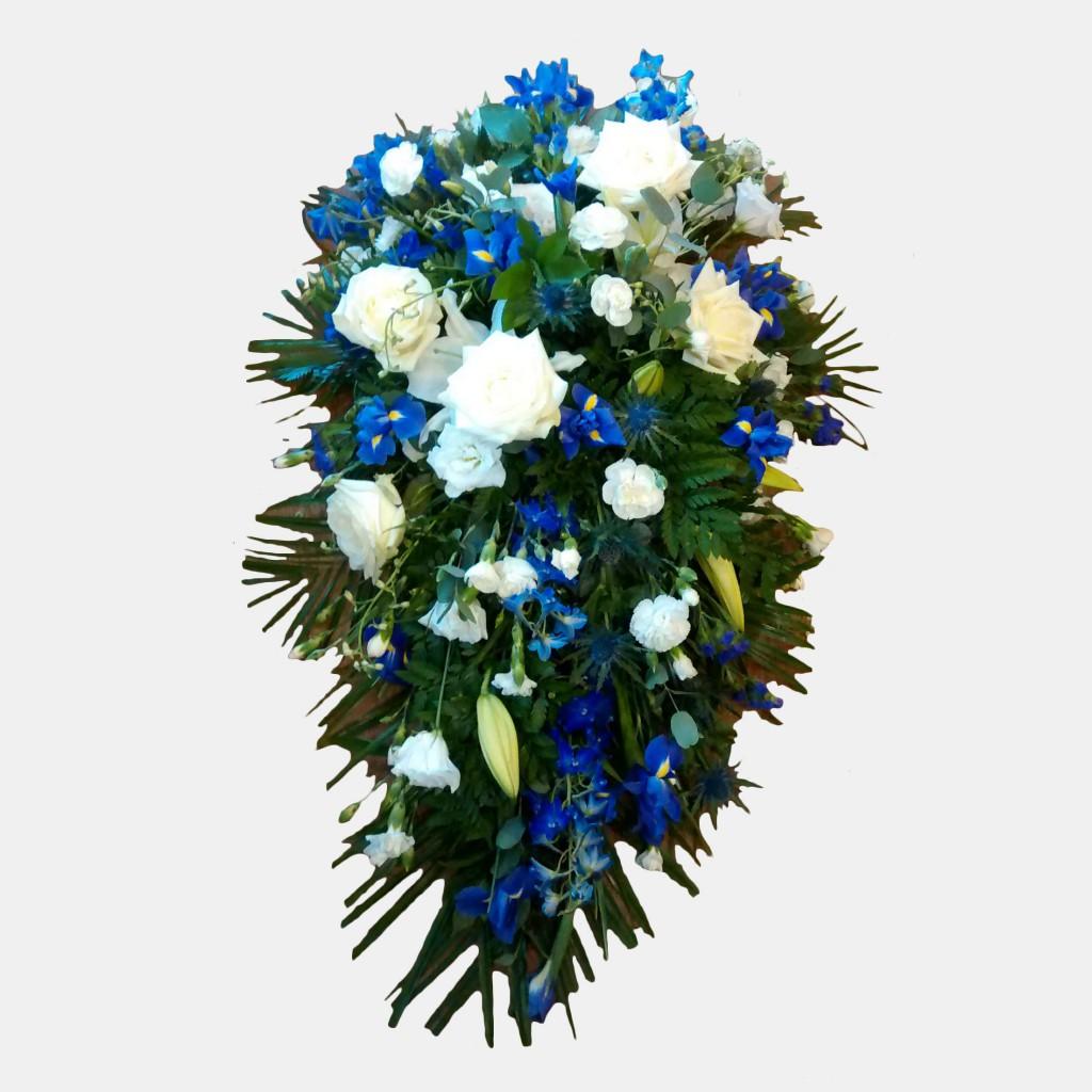 Single Ended Teardrop Spray Funeral Flowers