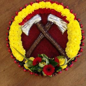 Wreath Fire Service Bespoke Funeral Tribute
