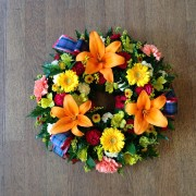 Wreath Bright Tartan